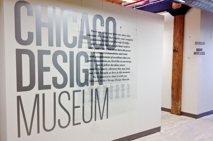 Chicago Design Museum Exhibition 2012 Way Finding on Behance