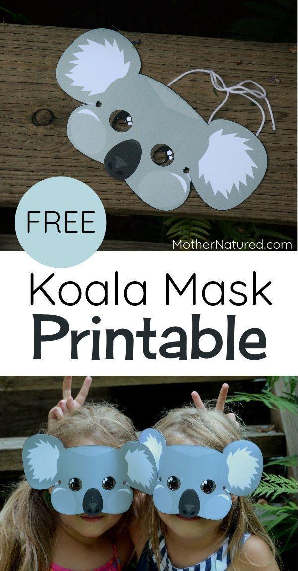 Koala mask for kids