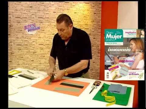 Hoy en Bienvenidas: Hermenegildo enseña la costura del puño de la camisa, la profesora. Visitá www.bienvenidas.com