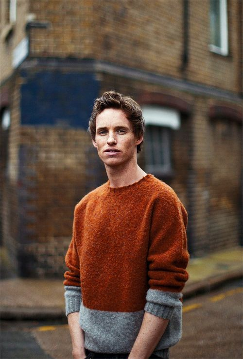 """Love the mix of colours,""  says a previous pinner....""Whatever with the sweater! It's Eddie Redmayne say I!"""