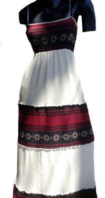 Peruanisches Folklore #Sommerkleid, #oekologische Pima #Baumwolle mit Manta Applikationen