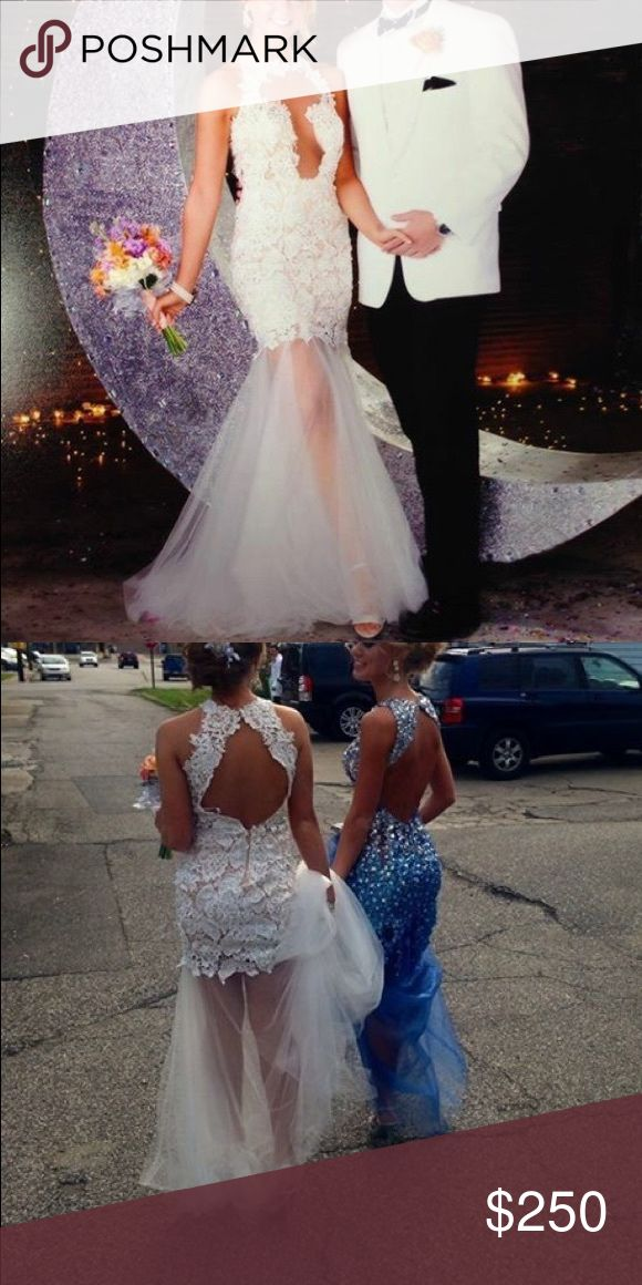 Formal dress Sherri hill white lace formal dress Sherri Hill Dresses Prom