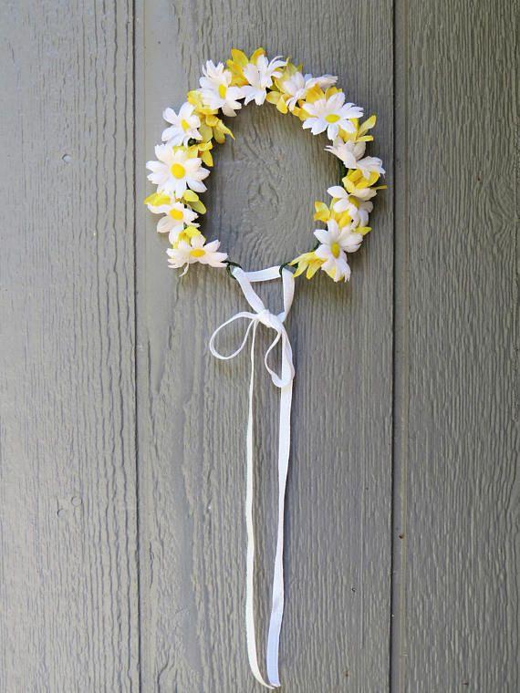 SALE Daisy Flower Crown Hair Wreath    Music Festival 7f0fdd7da2a