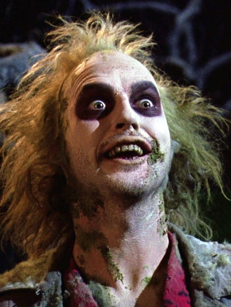 "Watching the classic ""Beetlejuice"", 1988."