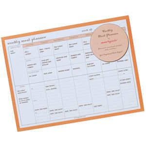 weekly meal planner pad family menu planner by momagenda the day