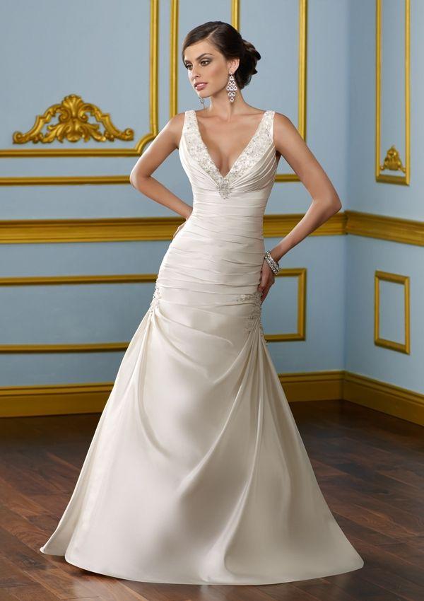 V neck wedding dress uk 12