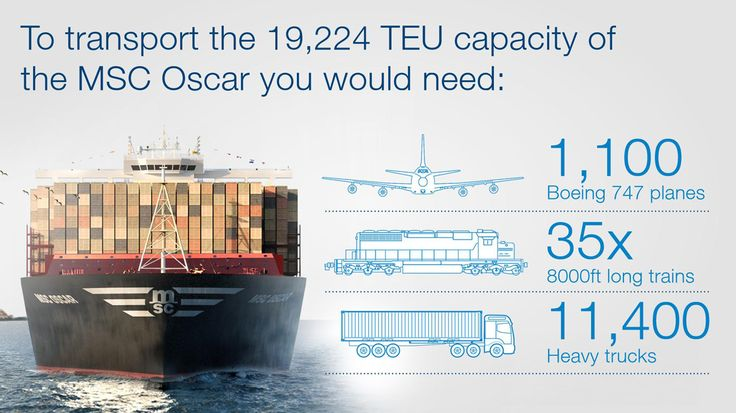 Surprising facts about the world's largest ship MSC Oscar | Global trade resource for exporters and importers