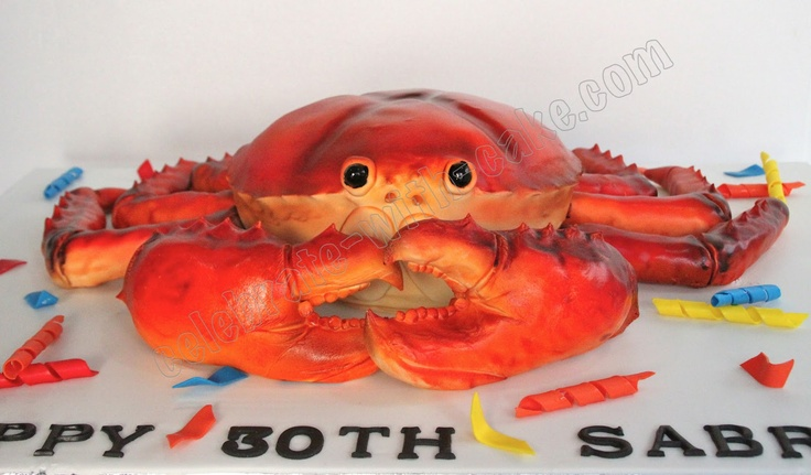 Crab birthday cake idea for my dad's 50th bday this year :P