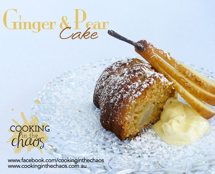 Ginger & Pear Cake - Thermomix