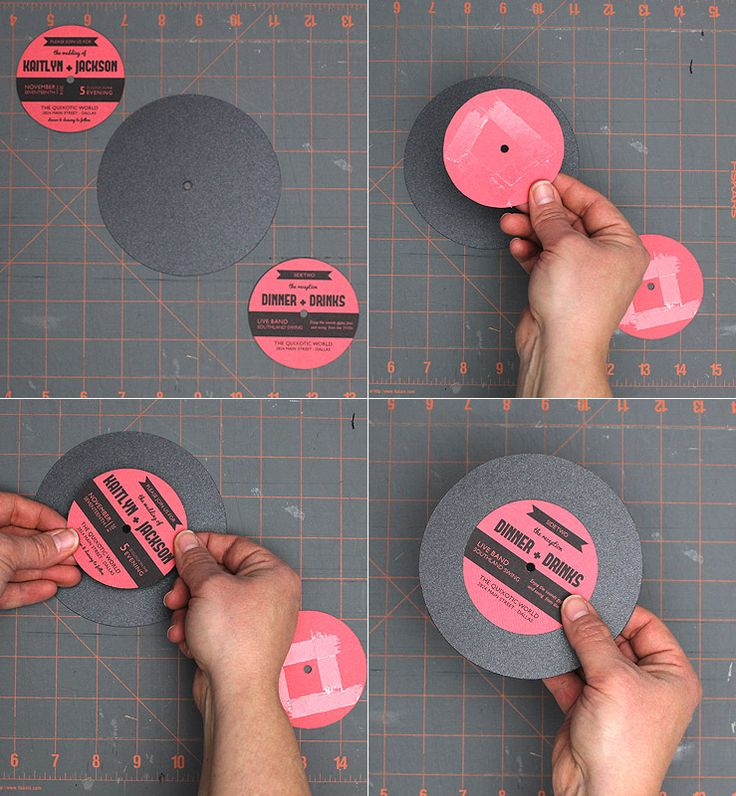 Vinyl Record Wedding Invitation Template – Download & Print