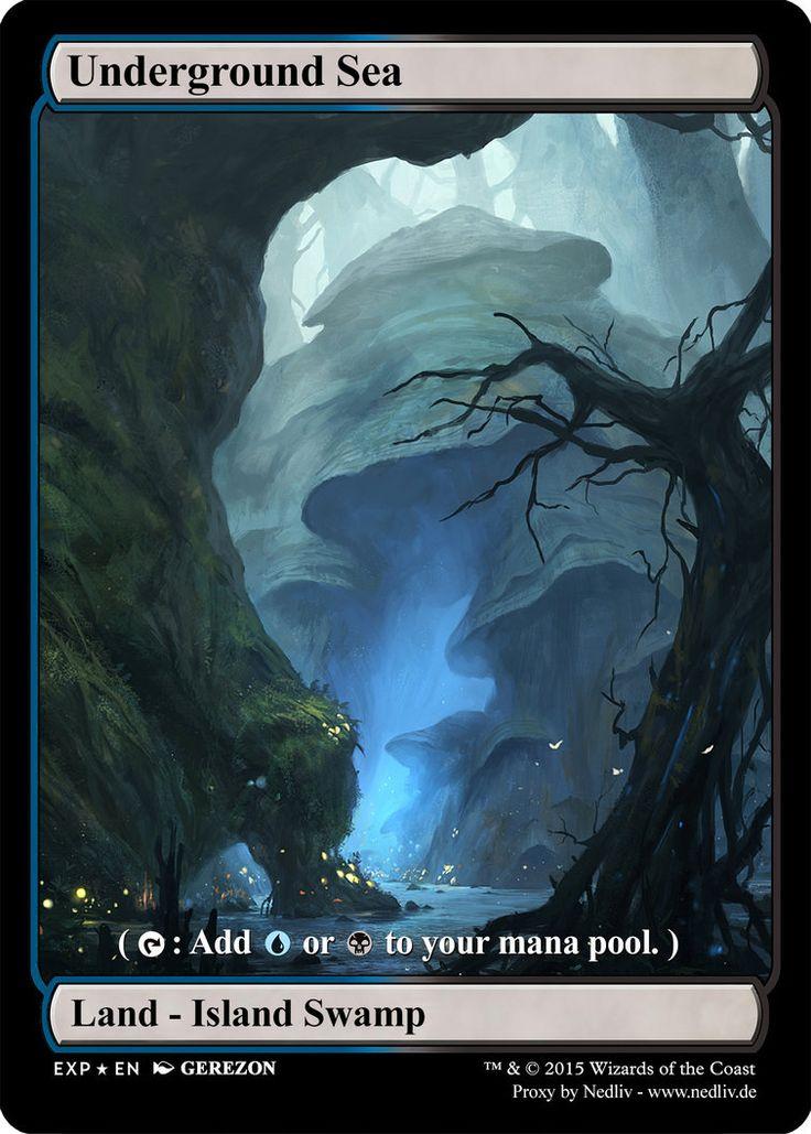 MTG - Altered Fullart Proxy - Underground Sea by Nedliv on DeviantArt