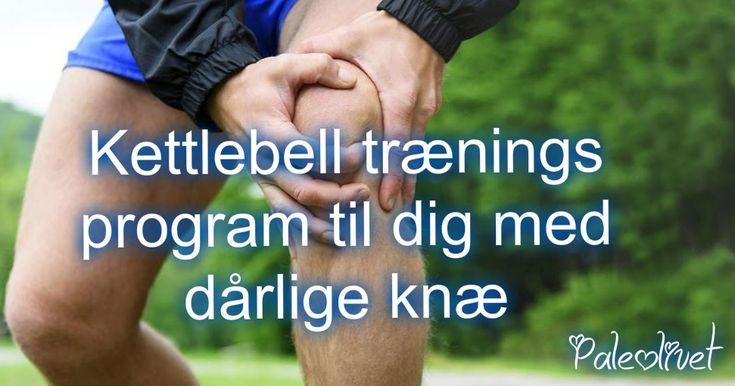 Få et kettlebellprogram du kan gennemføre, selv om knæene driller. Overall styrke og stabilisering af knæ. Her er hulefars program. Pin it eller klik ind og se med det samme!