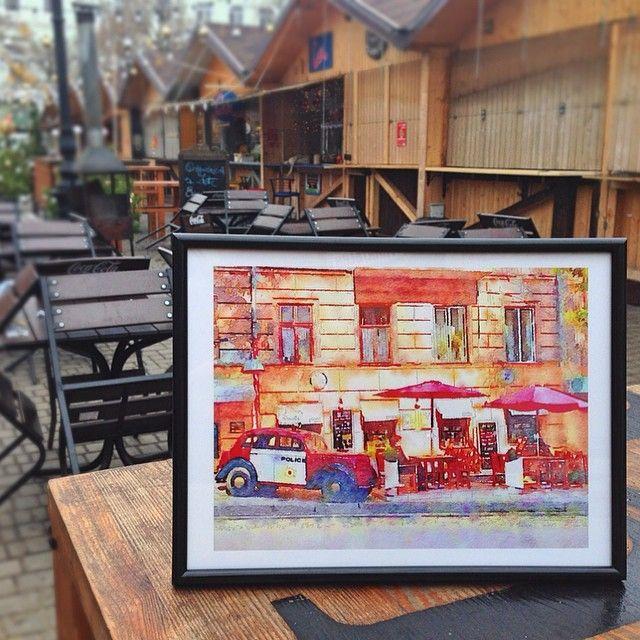 """Watercolor copy """"Odessa whiskey bar"""" Акварель """"Одесский виски-бар""""  Особенный новогодний #подарок! #Odessa #art #watercolor #Ukraine #акварель #Одесса"""