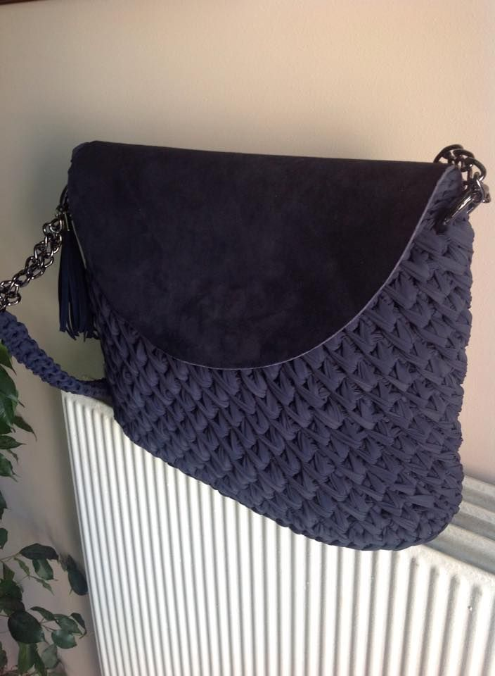Crochet bag - I like the flap feature.