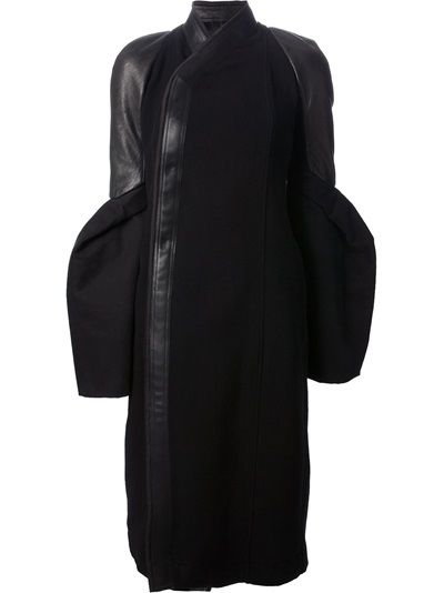 RICK OWENS structured coat.