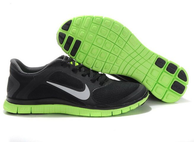 Nike Free 4.0 V3 Mens Black Green 2013 Low Price