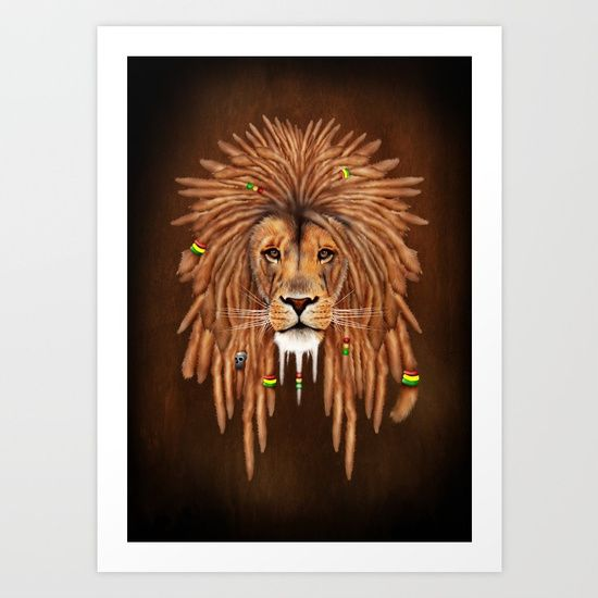 Rasta Lion Dreadlock ART PRINT @pointsalestore #society6 #art #artdesign #artprint #painting #digital #oil #popart #streetart #rasta #dreadlock #marley #bob #lion #lionking #simba #kingofthejungle #tarzan #music #raggae #africa #junglebook #beast #animal #cat #bigcat