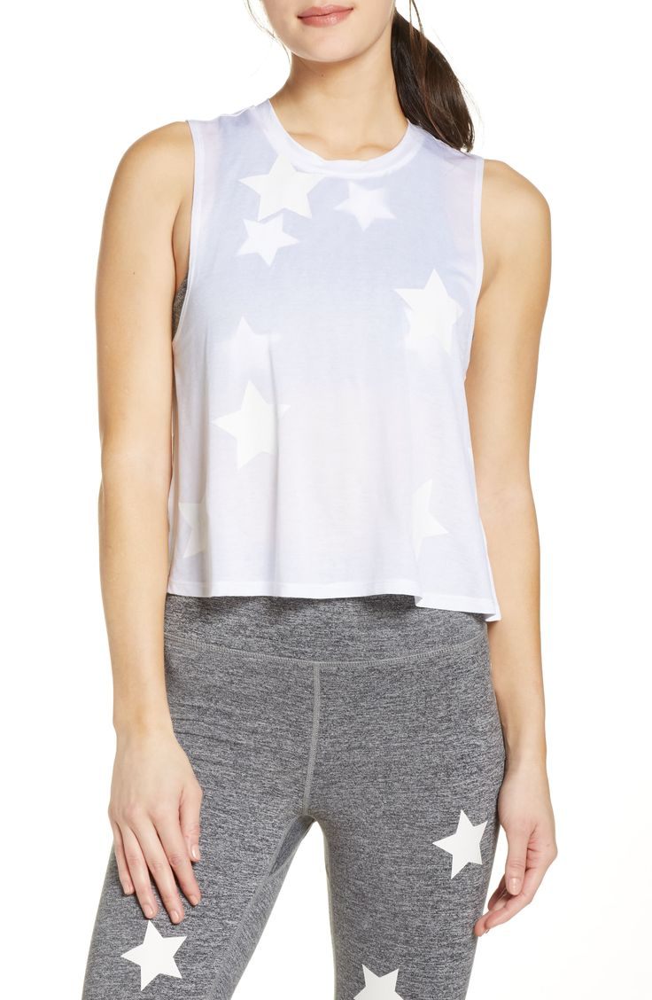 Spiritual Gangster Stars Crop Tank available at Nordstrom