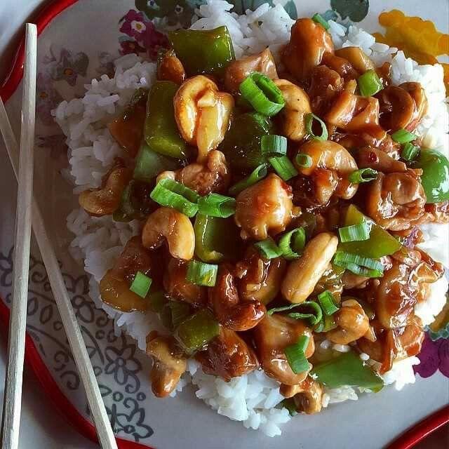 cashew chicken // pioneer woman (use chicken stock instead of sherry)