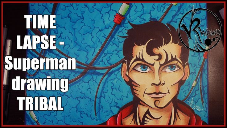 TIME LAPSE - Superman drawing TRIBAL