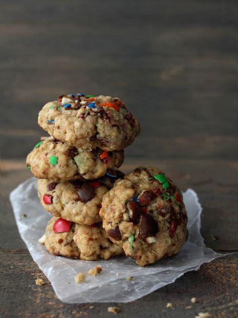 Pretzel M&M; oatmeal cookies