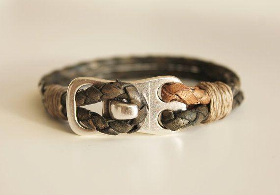 MENS LEATHER BRACELET. Men bracelet. Bracelet by kalmabisuteria