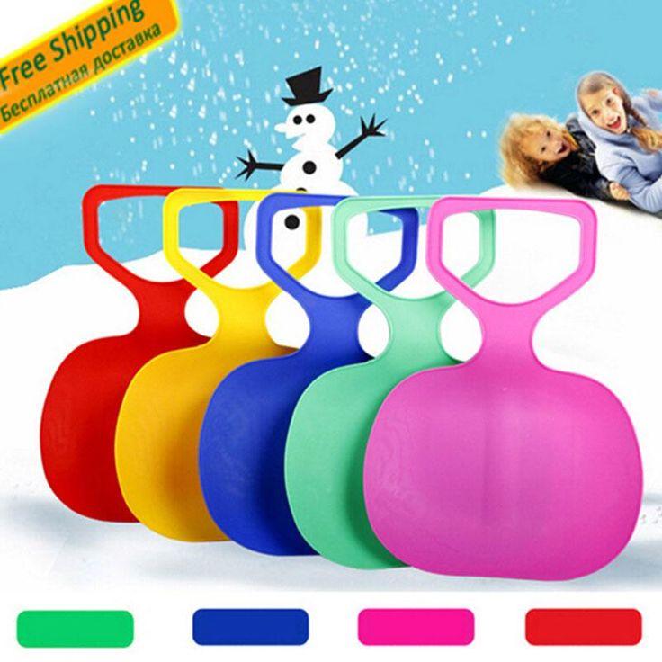 Deportes Niños/Adultos Invierno Espesar Esquí sobre Hierba De Plástico Pad Placa Trineo Trineo De Nieve