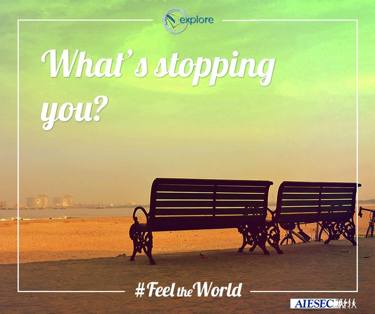 Θέλεις να ζήσεις στο εξωτερικό για 6 βδομάδες, να γνωρίσεις νέα άτομα, να αλλάξεις ζωές άλλων ανθρώπων, να δοκιμάσεις τον εαυτό σου, να βιώσεις μια άλλη κουλτούρα;  Τι σε σταματάει; #FeeltheWorld