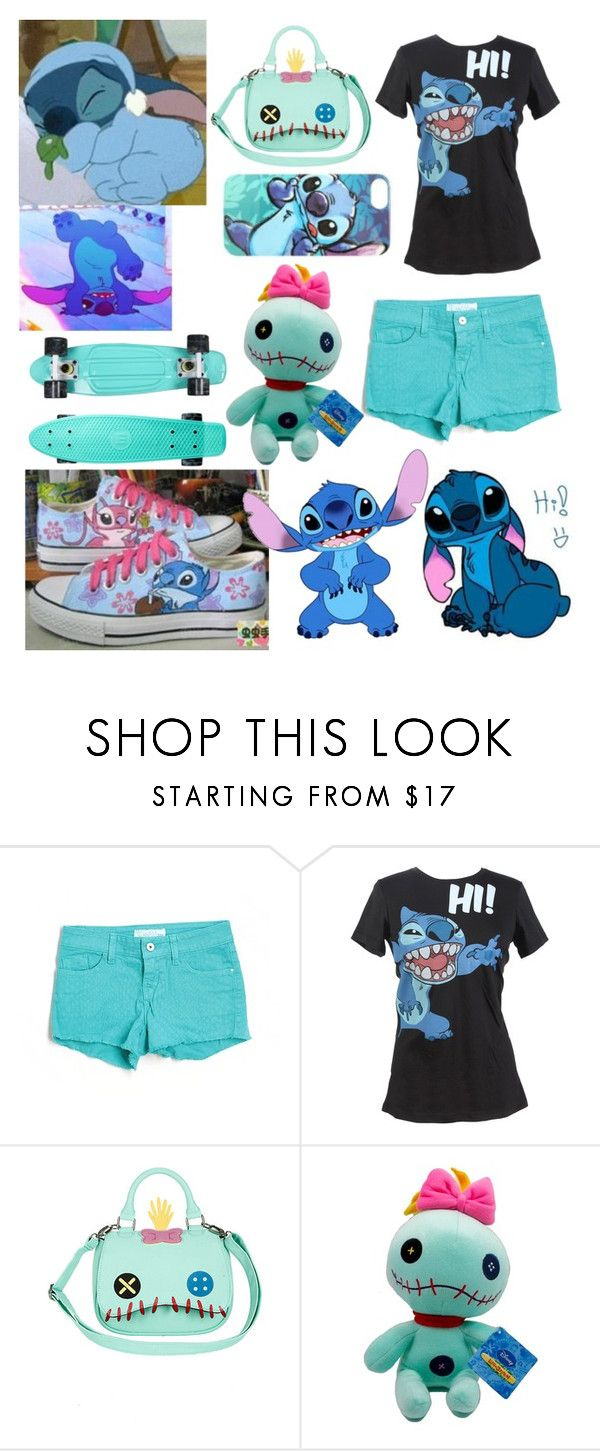 """""""Stitch"""" by wu-yifan-kris-exo ❤ liked on Polyvore featuring GUESS and Disney"""