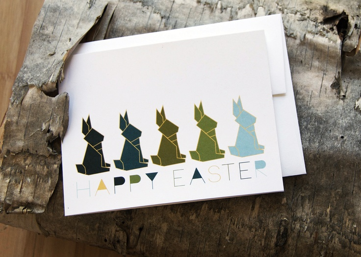NEW! For a thoroughly modern take on pastel Easter cards, check out Artistry Cards' origami rabbits this season. No folding required!