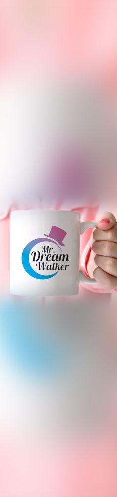 Diseñamos el logo para Mr. Dream Walker, empresa española dedicada a la creación y comercialización de tazas con mensajes motivacionales.    Se creo una imagen unificada donde se destaca el nombre de la marca con una tipografía cursiva. Acompañándose con la silueta de una luna y un sombrero que son adecuadas para la personalidad de la marca y siendo complementados con un sutil gradiente de cyan a magenta en tonos armónicos.     ¿Les gustó?