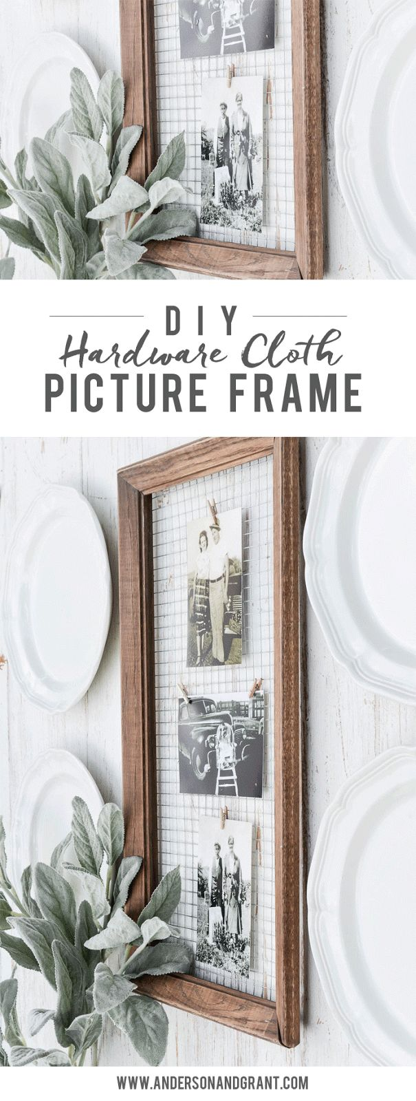 How to Display Photographs in a Unique DIY Picture Frame - anderson + grant