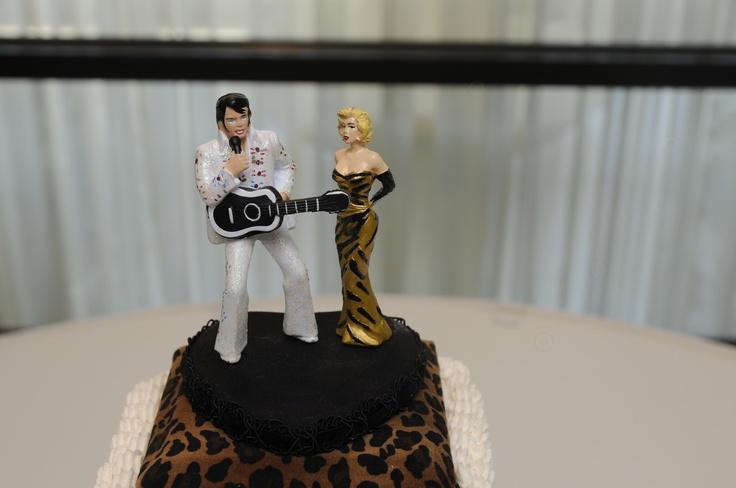 Elvis Presley And Marilyn Monroe Homemade Cake Topper