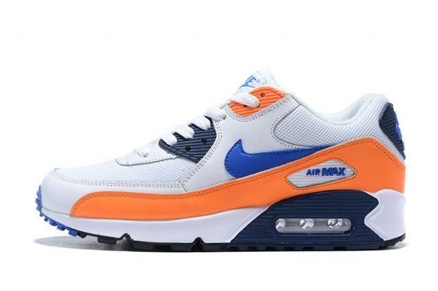 Nike Wmns Air Max 90 AJ1285 104 White Orange Blue Sportswear