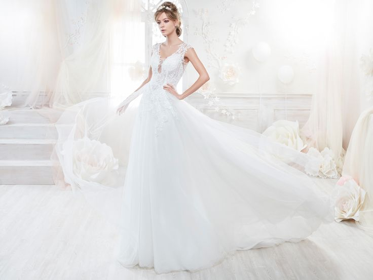 Moda sposa 2018 - Collezione COLET.  COAB18278. Abito da sposa Nicole.