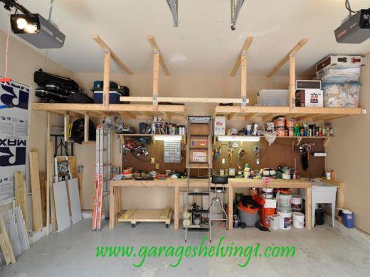 Wooden Garage Book Shelf Wood Garage Shelving How To