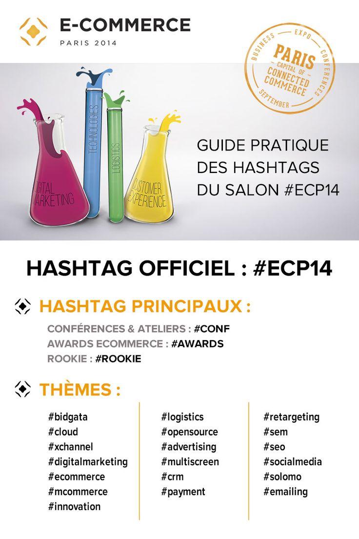 Guide des #hashtags officiels #ecommerce Paris 2014 #ECP14