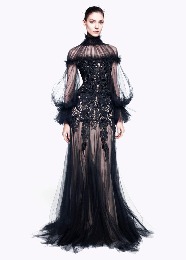 Black gown / alexander mcqueen prefall 2012
