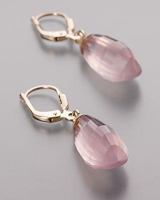 Wunderschöne Ohrhänger mit Rosenquarz  #schmuck #jewellery #sognidoro…