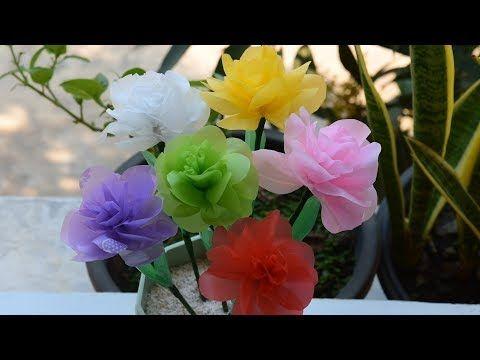 Cara Mudah Membuat Bunga Mawar Bahan Dari Kantong Plastik Kresek Youtube Bunga Manik Manik Bunga Bunga Cantik