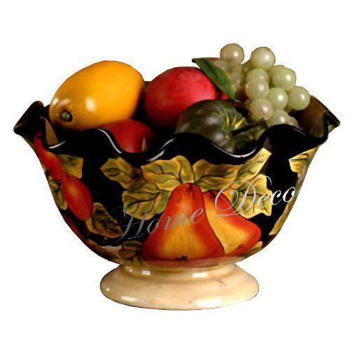 Tuscan Fruit Bowl Decor Kitchen Dining Room Serving