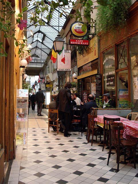 | ♕ | Paris cafe at the Passage des Panoramas | by © deneux_jacques