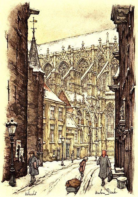 Kerst in Utrecht. Anton Pieck