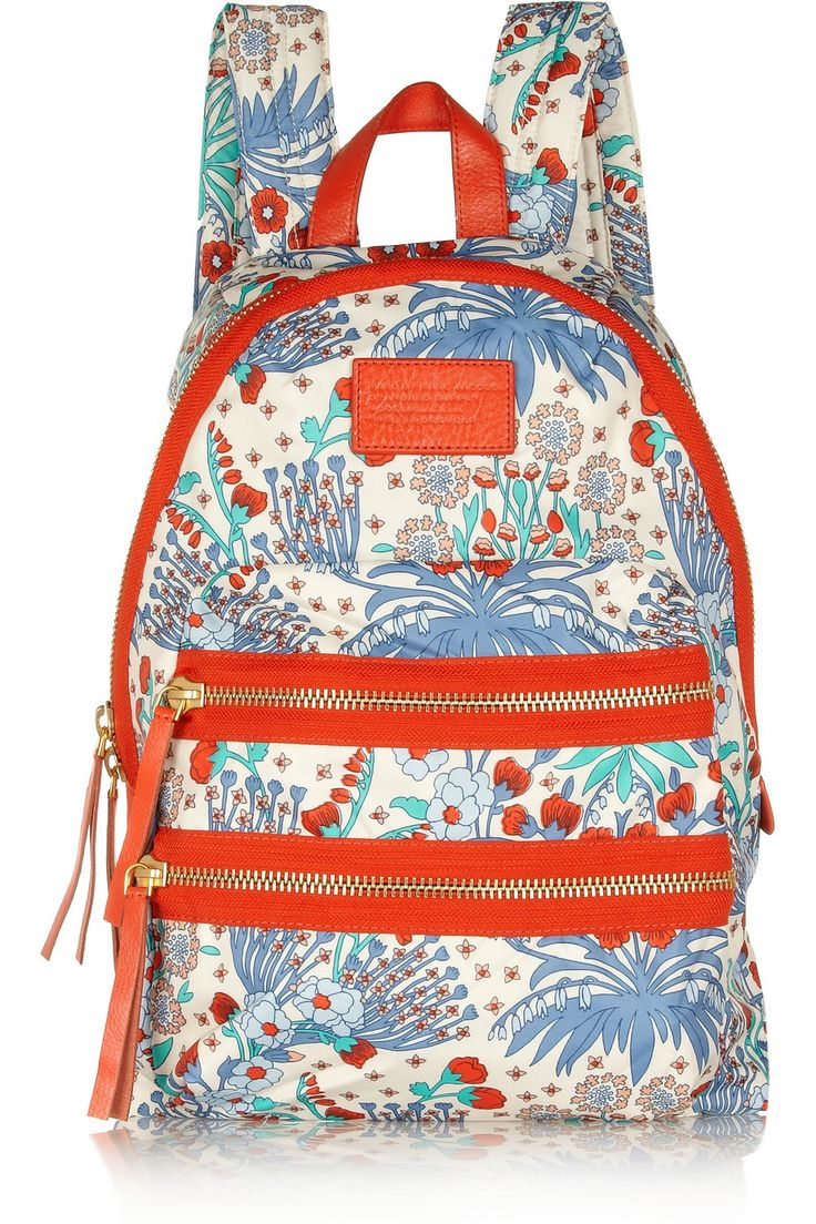 marc by marc jacobs domo arigoto floral print twill backpack net a porter com bags. Black Bedroom Furniture Sets. Home Design Ideas