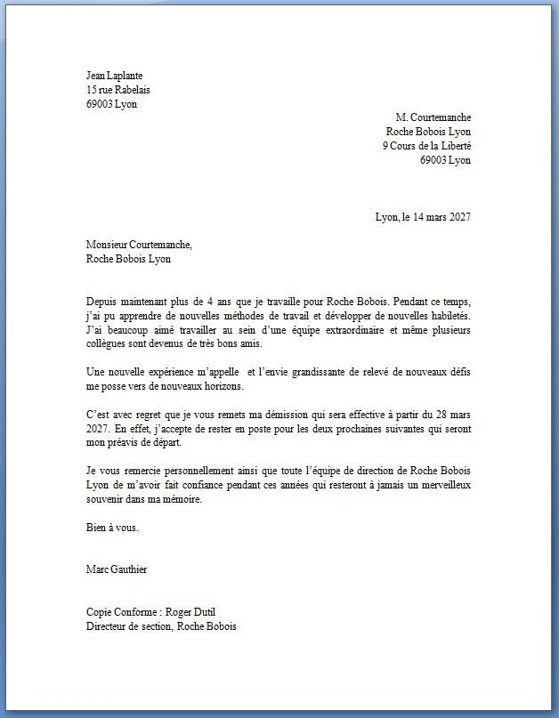 rediger une lettre administrative