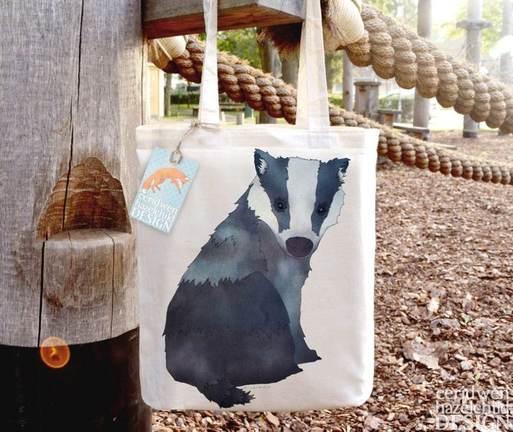 An adorable badger who will faithfully guard your in-tote possessions.
