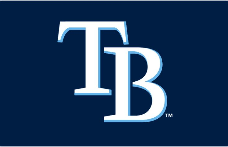 Tampa Bay Rays Cap Logo (2008) - TB in white with a light blue drop shadow on navy blue