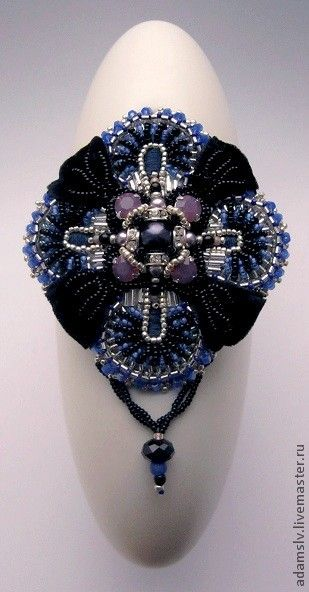 Beautiful brooches by Krisitina Adams   Beads Magic