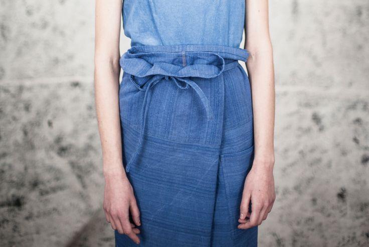 blue apron skirt