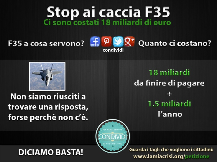 Ma a cosa servono gli F35?
